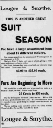 Lougee & Smythe ad 1909