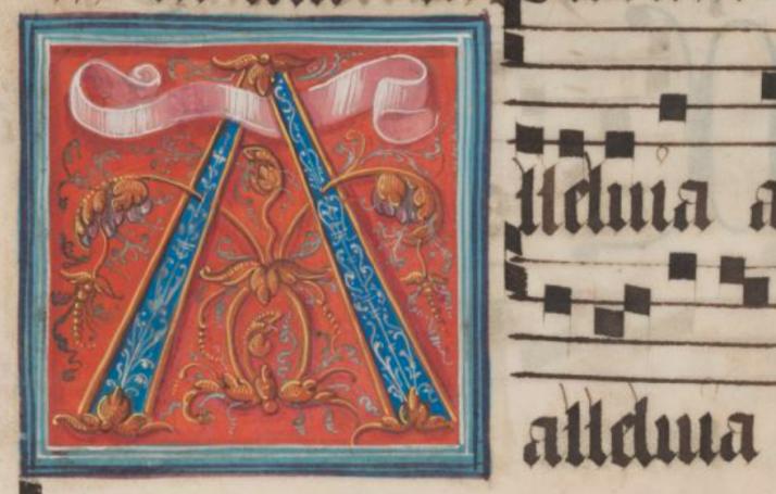 Alleluia Manuscript Illuminated